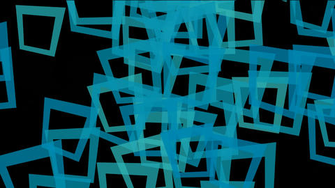 abstract blue square frame... Stock Video Footage