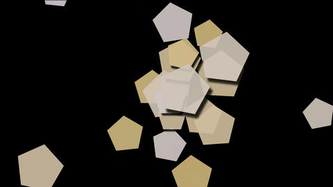 Beige pentagons array moving Animation