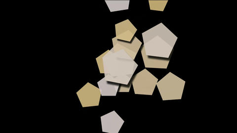 Beige pentagons array moving Stock Video Footage