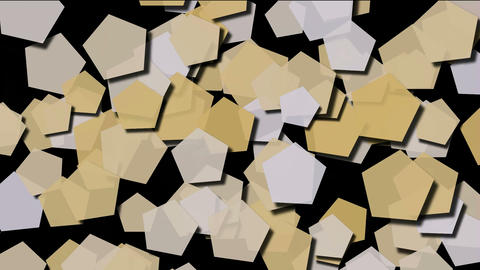 Beige pentagons moving.vision,idea,art,decorative,mind,stylish,structure,math,card,paper,childhood,k Animation