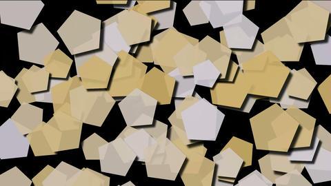 Beige pentagons moving.vision,idea,art,decorative,mind,stylish,structure,math,card,paper,childhood,k Animation