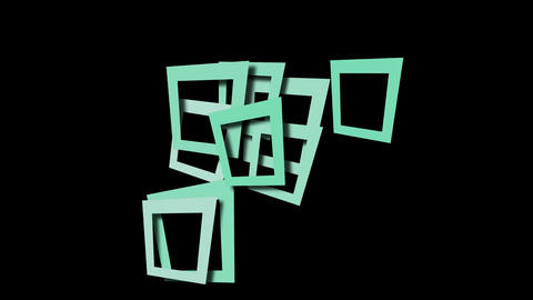abstract blue square frame and puzzle background Stock Video Footage