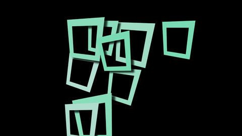 abstract blue square frame and puzzle background Animation