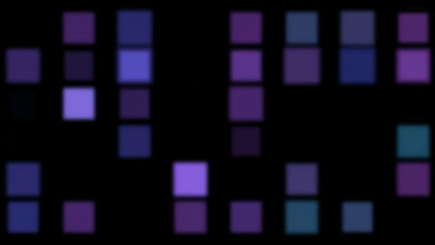 purple square matrix,disco... Stock Video Footage