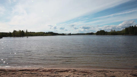 Panorama of the Lake Stock Video Footage