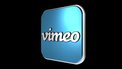Social Media Icons 3 Matte / Fill Stock Video Footage