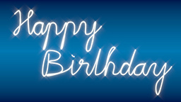 Happy Birthday CG動画素材
