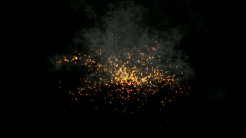 golden Fireworks and smoke,seamless,loop,arms,war,signal... Stock Video Footage