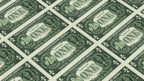 back of 1 dollar bills Stock Video Footage