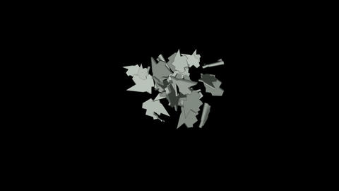 metallic leaf falling,broken silver... Stock Video Footage