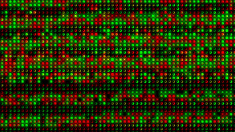red and green electronic light array... Stock Video Footage