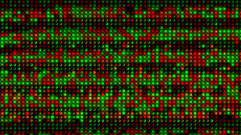 red and green electronic light array background.Scanning,detection,radar,neon lights,modern,stylish Animation