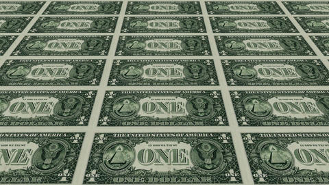 back of 1 dollar bills Animation