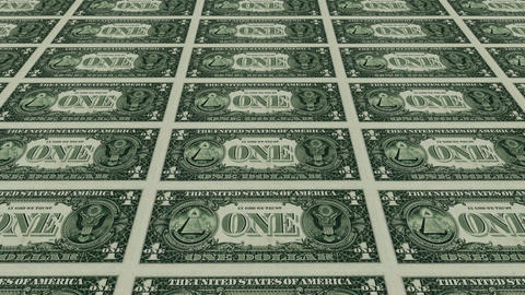 back of 1 dollar bills Stock Video Footage