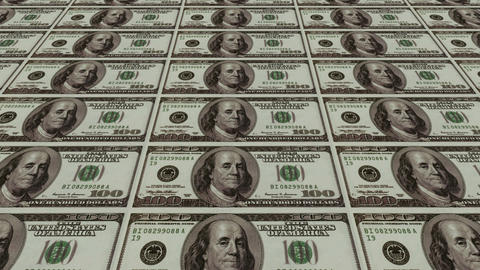 100 dollar bills,Printing Money Animation Stock Video Footage