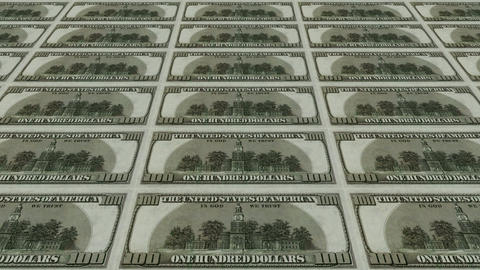 back of 100 dollar bills,Printing Money Animation Stock Video Footage