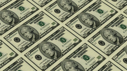 10 dollar bills,Printing Money Animation Stock Video Footage