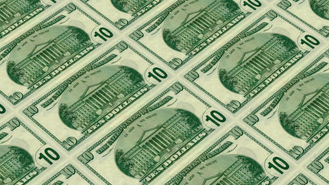 back of 10 dollar bills,Printing Money Animation Stock Video Footage