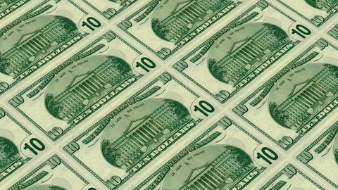back of 10 dollar bills,Printing Money Animation Stock Video Footage