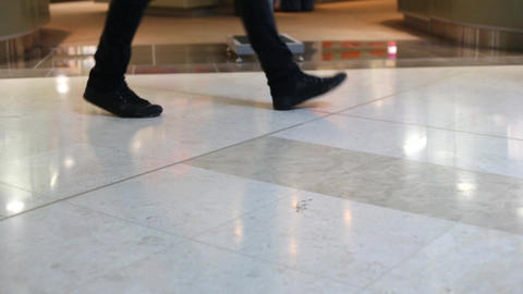 People walking in shopping mall Stock Video Footage
