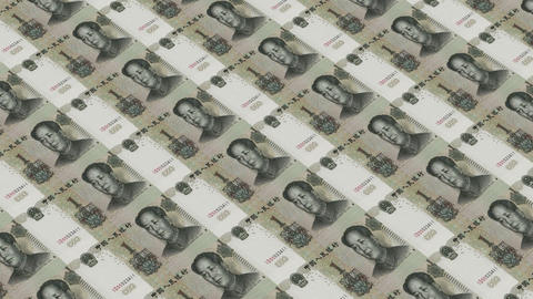 Printing Money Animation,1 RMB bills Stock Video Footage