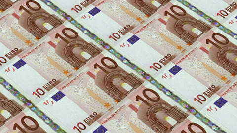 10 euro bills,Printing Money Animation Stock Video Footage
