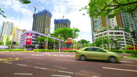 City street, timelapse in motion Stock Video Footage