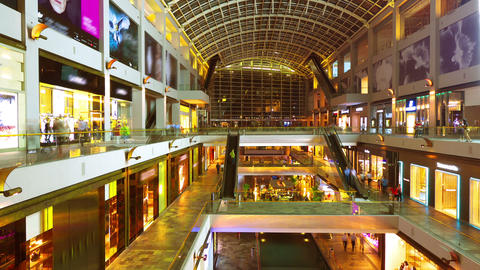 Shopping mall timelapse in motion Stock Video Footage