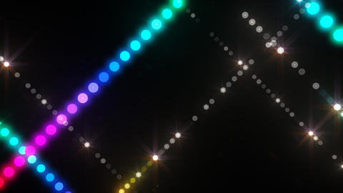 Neon LED Dot9 A3d HD Stock Video Footage