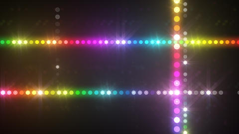 Neon LED Dot9 A3f HD Stock Video Footage