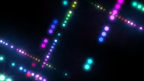 Neon LED Dot9 A4b HD Stock Video Footage