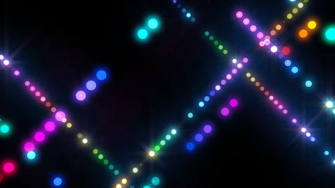 Neon LED Dot9 A4d HD Stock Video Footage