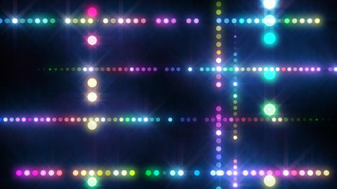Neon LED Dot9 A4f HD Stock Video Footage