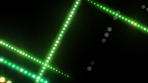 Neon LED Dot9 B3b HD Stock Video Footage