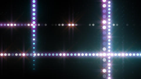 Neon LED Dot9 B3f HD Stock Video Footage