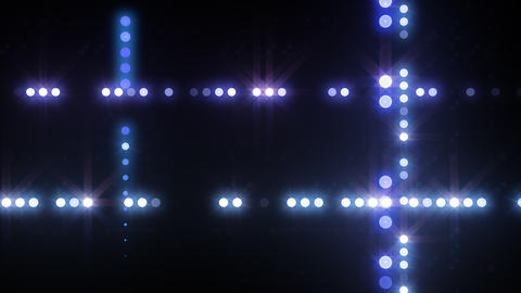 Neon LED Dot9 B4f HD Stock Video Footage