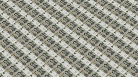 Printing Money array,1 RMB bills Stock Video Footage
