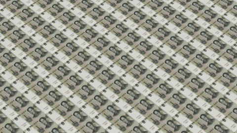 Printing Money array,1 RMB bills Animation