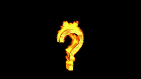 Question fire mark Stock Video Footage
