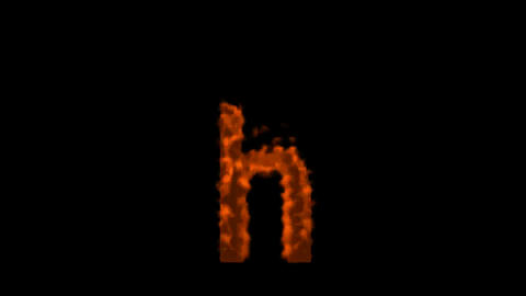 fire letter h Stock Video Footage
