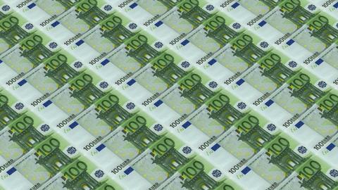 100 euro bills,Printing Money Animation Stock Video Footage
