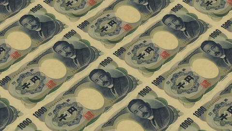 1000 japan yen,Printing Money Animation Stock Video Footage