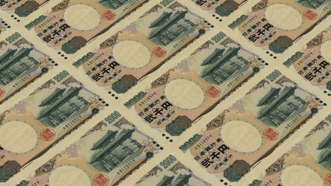2000 japanese yen,Printing Money Animation Stock Video Footage