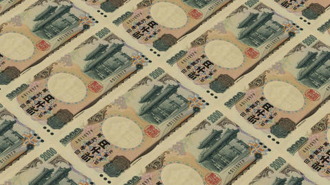 2000 japanese yen,Printing Money Animation Stock Video Footage