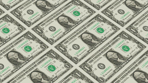 1 dollar bills,Printing Money Animation Stock Video Footage