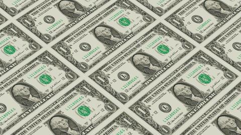 1 dollar bills,Printing Money Animation Stock Video Footage