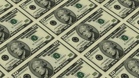 10 dollar bills,Printing Money Animation Animation