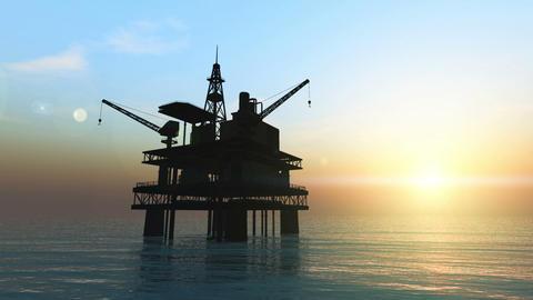 石油プラットホーム Stock Video Footage