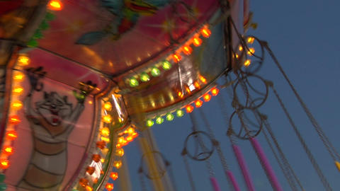 chain carousel slow motion 04 Stock Video Footage