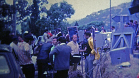 1969: Behind the scenes movie production footage of a French film Footage